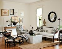 Lindsey Meadows - living rooms - white walls, white wall ...