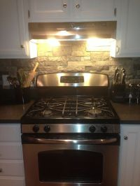 air stone backsplash from lowes | Contemporary lodge ...