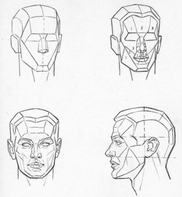 Karakalem İnsan yüzü çizimi nasıl çizilir karakalem