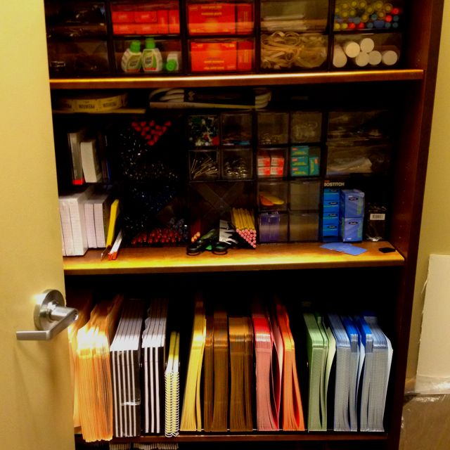 Organized office supply closet at work Awesome job