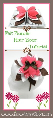 felt flower hair bow tutorial