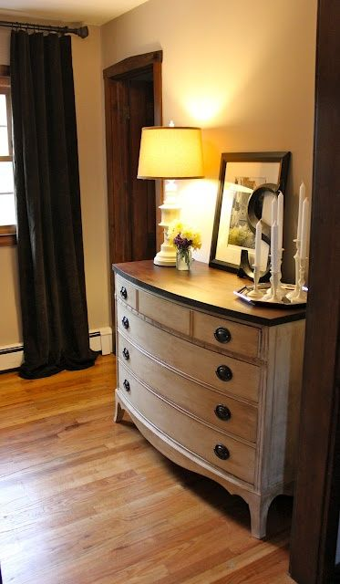 DIY: Anne Sloane Chalk Paint (for drawers) Followed by hand sanding and a coat o