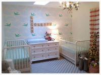 Twin nursery for boy and girl | Twins | Pinterest | Wall ...