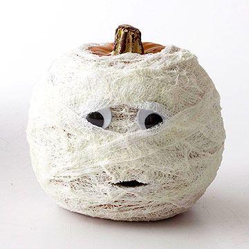 gauzy mummy pumpkin