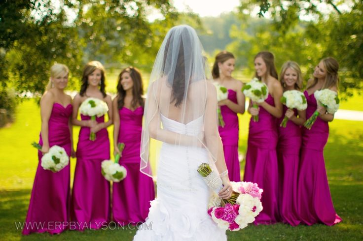 Magenta bridesmaid dresses, Magenta and Bridesmaid on