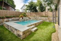 step it up! stone wall surrounds | Plunge pools ...