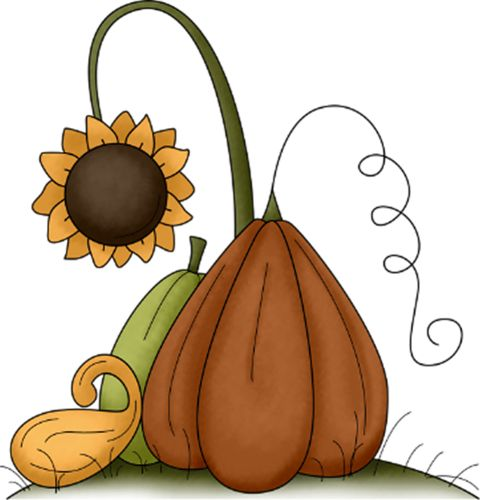 squash and sunflower clip art