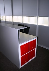 Reception Desk? [IKEA Hackers] | Lovely Shop Style ...