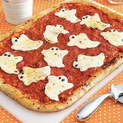 Halloween Ghost pizza - use wheat: