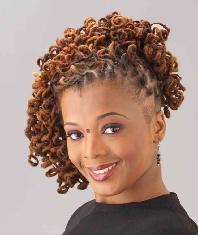 Curly Loc  Updo  Black Women Natural Hairstyles  Sister