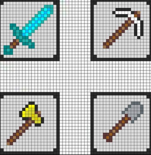 Minecraft cross stitch Cute stitches Pinterest