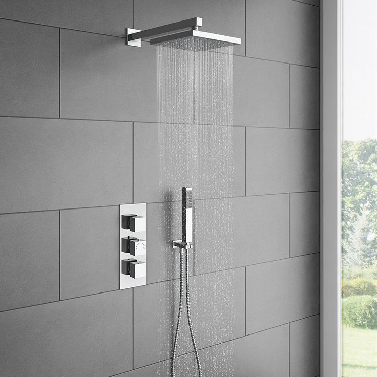 Milan Triple Thermostatic Shower Package with Head  Handset  Showers Milan and Victorian