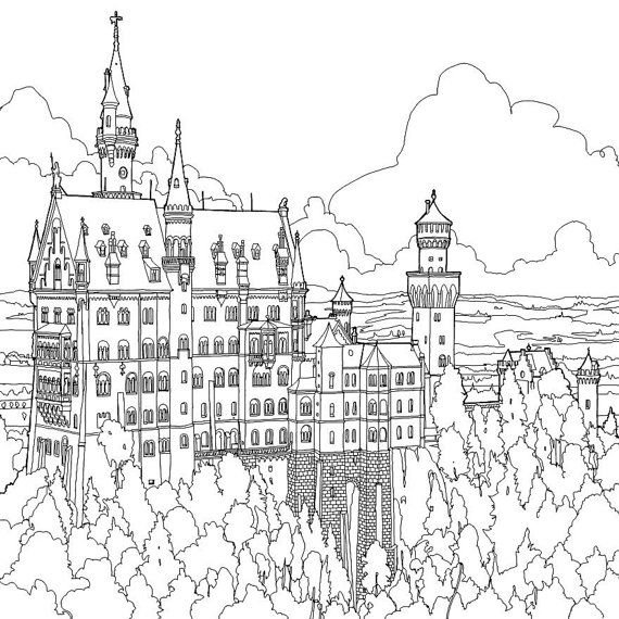 191 Best images about coloriage chateau fort on Pinterest