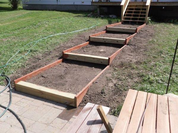 building steps slope landscapes