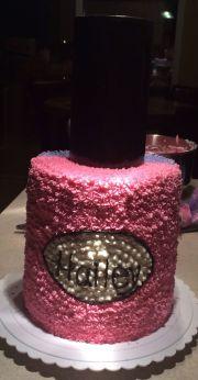 nail polish cake. spa party. birthday