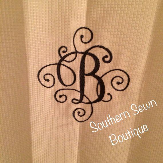 1000 ideas about Monogram Shower Curtains on Pinterest
