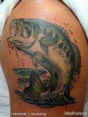 bass fishing tattoos men