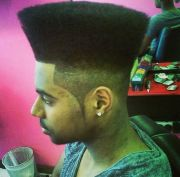cool box top black men haircuts