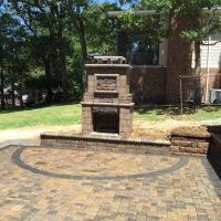 This outdoor fireplace kit from General Shale was part of ...