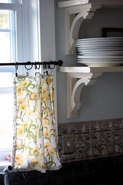 napkin curtains for kitchen window cute idea I may do