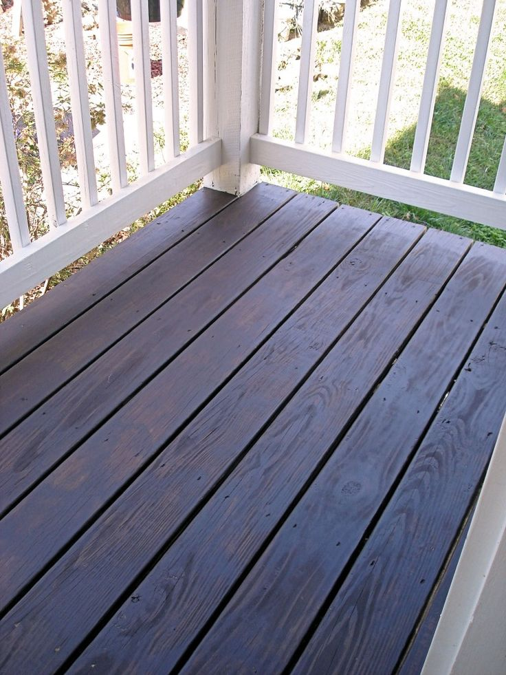 Behr S Cordovan Brown In Solid Stain Porch Decor