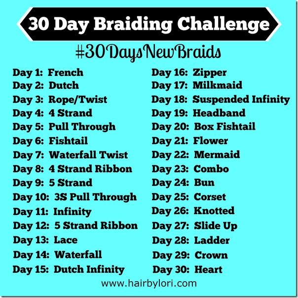 50 Best Images About 30 Day Braiding Challenge On Pinterest 30