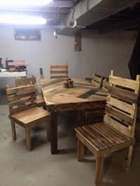 1000+ ideas about Pallet Dining Tables on Pinterest