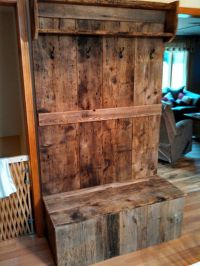 Barn wood hall tree | Things I've built | Pinterest ...