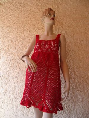 Vestido corto tejido a crochet | PuntotejidoS Primavera  Verano | Pinterest | Tejido and Crochet
