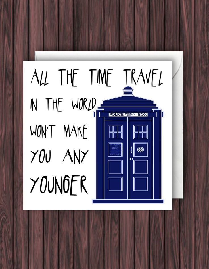 Time Travel Doctor Who Birthday Card Funny Greetings