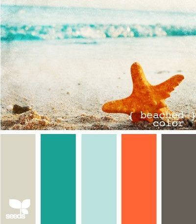 beach theme color pallette. this is the exact pallette im using in our master bedroom!