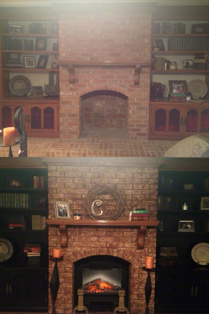 17 Best images about Update built in bookcase on Pinterest  Open fireplace Paint and Bookcases