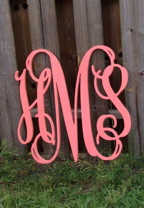 monogrammed letters