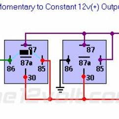 Western Unimount Plow Wiring Diagram Hard Wired Smoke Detector Diagrams Momentary To Constant 12v(+) Output Relay | 12 V Pinterest