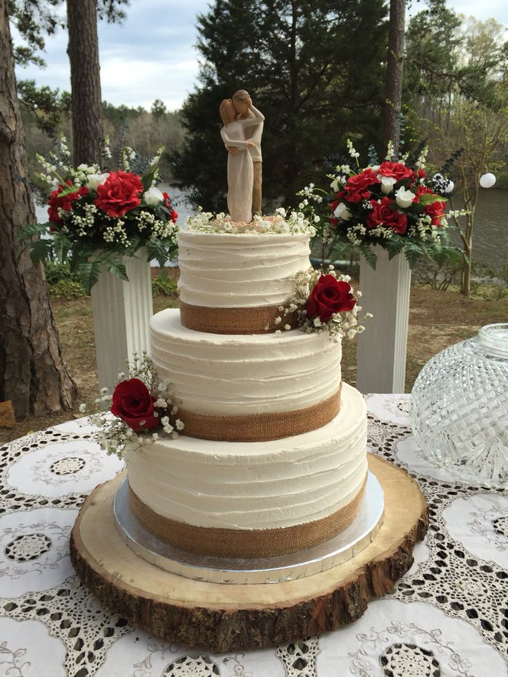 1000 Ideas About Burlap Cake On Pinterest Rustic Cake