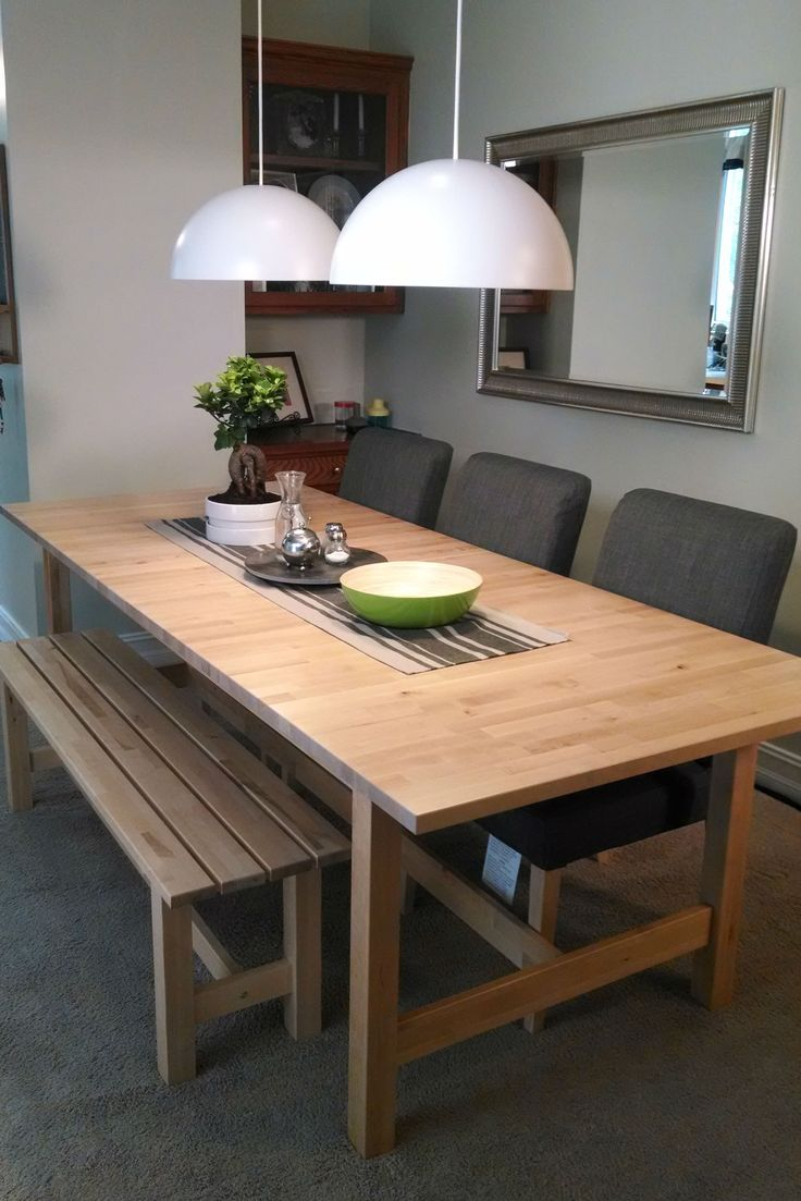 The Solid Birch Construction Of The NORDEN Dining Table Is