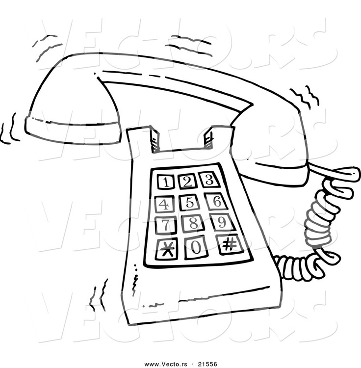 vector-of-a-cartoon-ringing-desk-phone-outlined-coloring