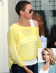 charlize theron cuts hair