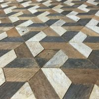 Mosaic floor of wood and stone: a collection of Design
