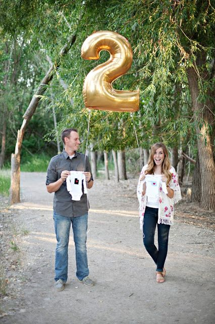 Pregnancy Announcement except with a 3 for Party of 3