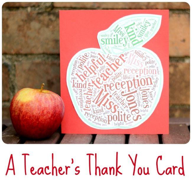 How To Make A Teachers Thank You Card Using Tagxedo