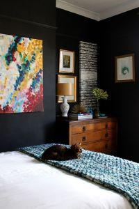 25+ best ideas about Black Bedrooms on Pinterest
