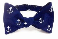 Nautical Anchor on Navy Bow Tie - bowtie, bow ties ...