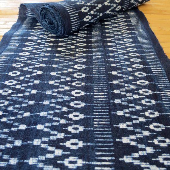 Hmong cottonIndigo Batik fabric textiles and fabrics