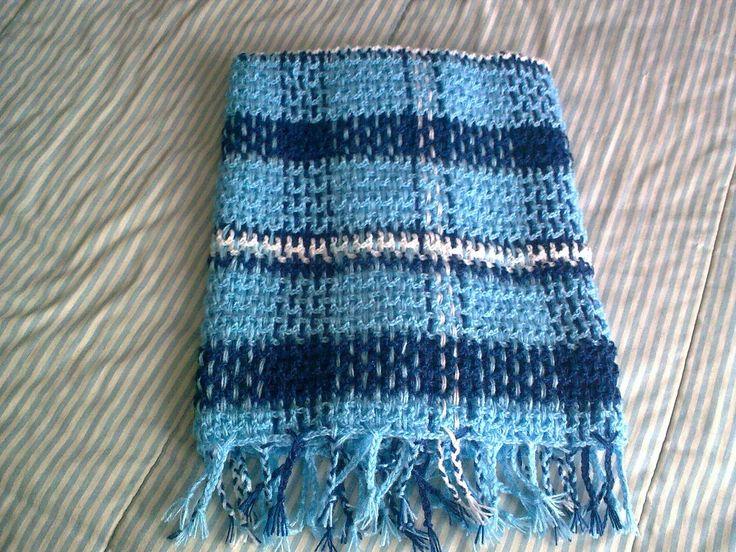 Crochet Plaid Baby Blanket Scottish Baby Blanket Mantinha Escocesa Event Plaid Tartan