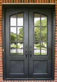 Iron Divided Light Double Door Clark Hall Iron Doors ...