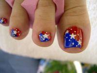 Patriotic Toe Nail Designs | Nail Design Ideas 2014 ...