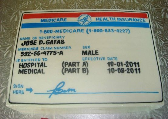 Medicare Card Birthday Cake For The Home Pinterest