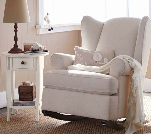 Wingback Rocker | Pottery Barn Kids – Legs can be changed to stationary