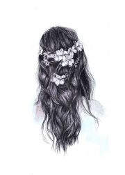 beautiful drawing hipster